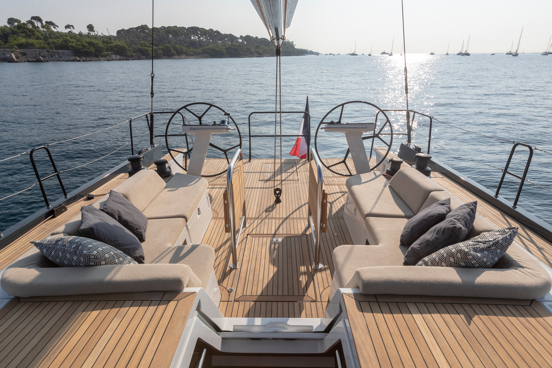 First 53 Yacht Cockpit